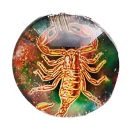 Cabochon/Plaksteen Glas 25 mm Horoscoop Schorpioen 1122