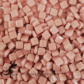 Mozaïek tegeltjes glas 8 x 8 mm Opaal per 50 gram Roze 035
