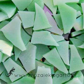 Gekleurde glasscherven Iriserend Pistachegroen CAG018i