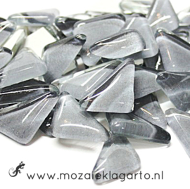 Mozaiek puzzelstukjes Soft Glas 100 gram Lichtgrijs 063