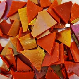 Gekleurde glasscherven Rood Iriserend CAG13i