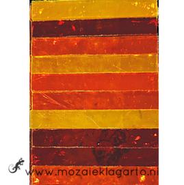 Tiffany Spiegelglas reepjes 1x6.5 cm per 10 Oranje 007