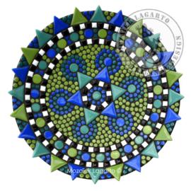 Schaal Bouqette Blauw-Groen-Turquoise
