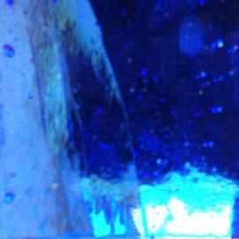 Spiegel gekleurd 5x15 cm Hemelsblauw 031