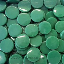 Glastegel Rond 18 mm per 50 gram Donkergroen 055