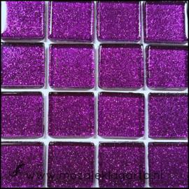 Glitter 2x2 cm per 16 tegels Paars 035