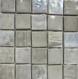 Glastegels 15 mm  Grijs Opaal per 25 tegels 111-15