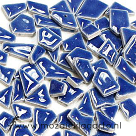 Keramiek Puzzelstukjes per 100 gram Blauw 191