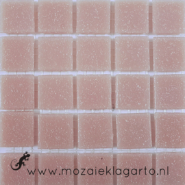 Basis glastegels Roze  per 25 tegels 085