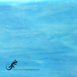 Glasplaat 19 x 20 cm Licht Aqua Semi Translucent CAG059st
