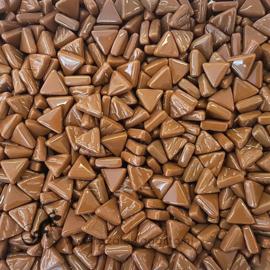 Glasmozaiek Driehoekjes 10 mm per 50 gram Koffie 099
