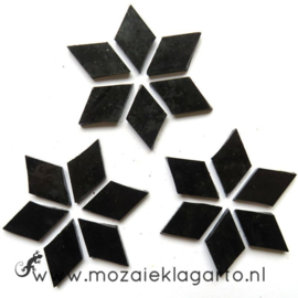 Wybertjes/Ruitjes 15x25 mm per 20 Zwart 026-2