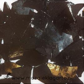 Gekleurde glasscherven Opaal Zwart W96-02o