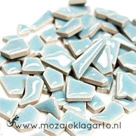 Keramiek Puzzelstukjes per 100 gram Licht  Aqua 172