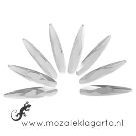 Glas facet geslepen druppel 6x30 mm per 8  Kristal 900