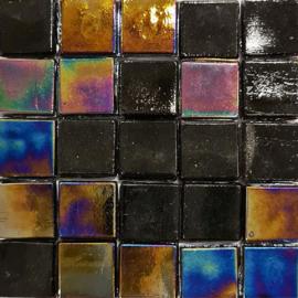 Glastegels 15 mm  Zwart Opaal per 25 tegels 113-15