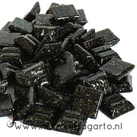 Basis  glastegeltjes 1 x 1 cm per 50 gram Donkerbruin 038
