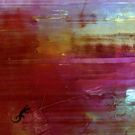 Glasplaat 19 x 20 cm Donkerrood Iriserend  CAG014i