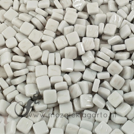Mozaiek tegeltjes glas 8 x 8 mm Parelmoer per 50 gram Lichtgrijs 043