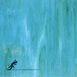 Glasplaat 19 x 20 cm Licht Zeegroen Semi Translucent  CAG104st