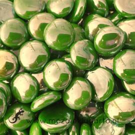 Glas Nugget 17-22 mm Opaal Iriserend 50 gram Groen 4453