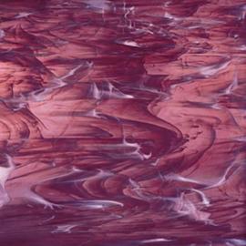 Glasplaat 20 x 20 cm Licht Aubergine/Wit Wispy Y349-2w