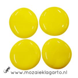 Glas Nugget 30-38 mm per 4 Opaal Geel 4496
