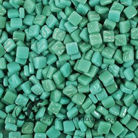 Mozaïek tegeltjes glas 8 x 8 mm Opaal per 50 gram Zeegroen 014