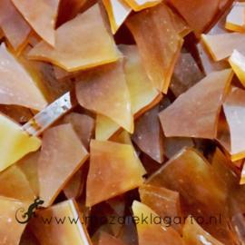 Gekleurde glasscherven Semi translucent Amber CAG072st
