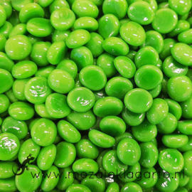 Glas Nugget Mini 9-13 mm Opaal 50 gram Groen 4356