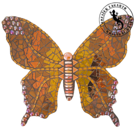 Mozaiekpakket 31 Vlinder Lucente Oranje