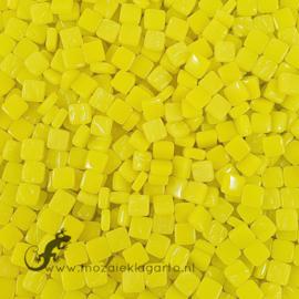 Mozaïek tegeltjes glas 8 x 8 mm Opaal per 50 gram Fel Geel 028