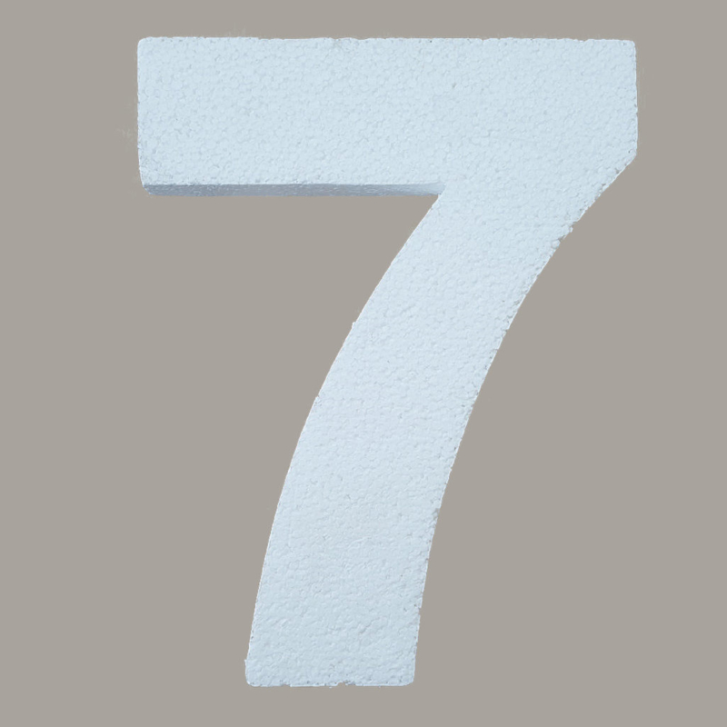Ondergrond mozaïek Styropor Cijfer 7