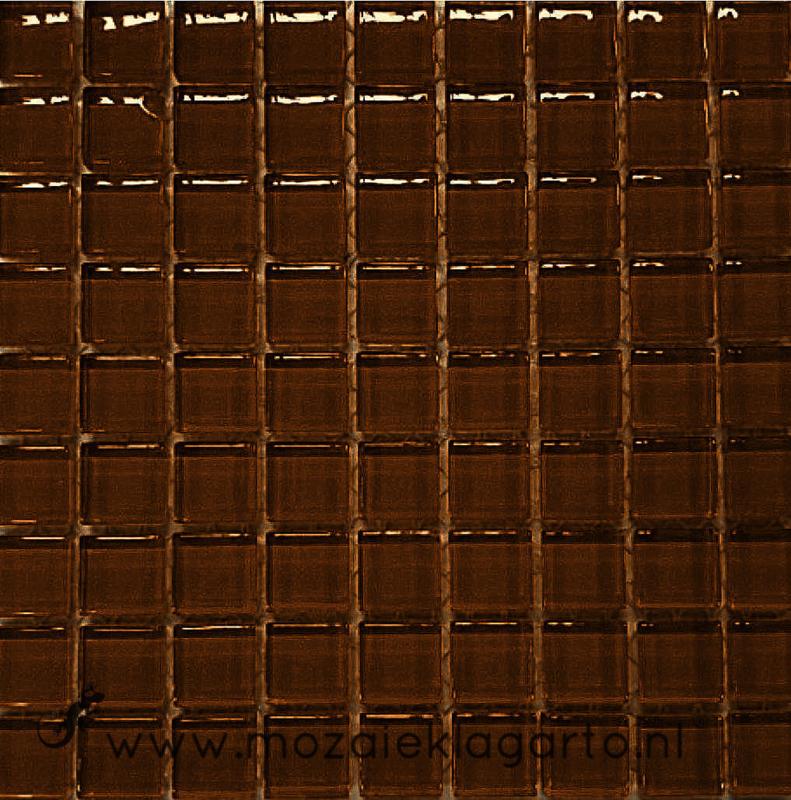 Glastegeltje Murrini Donkerbruin per 81 tegeltjes 044