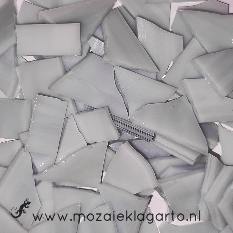 Gekleurde glasscherven Semi Translucent Lavendel/Wit SO843-71st