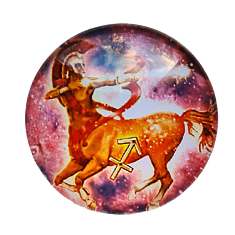 Cabochon/Plaksteen Glas 25 mm Horoscoop Boogschutter 1123