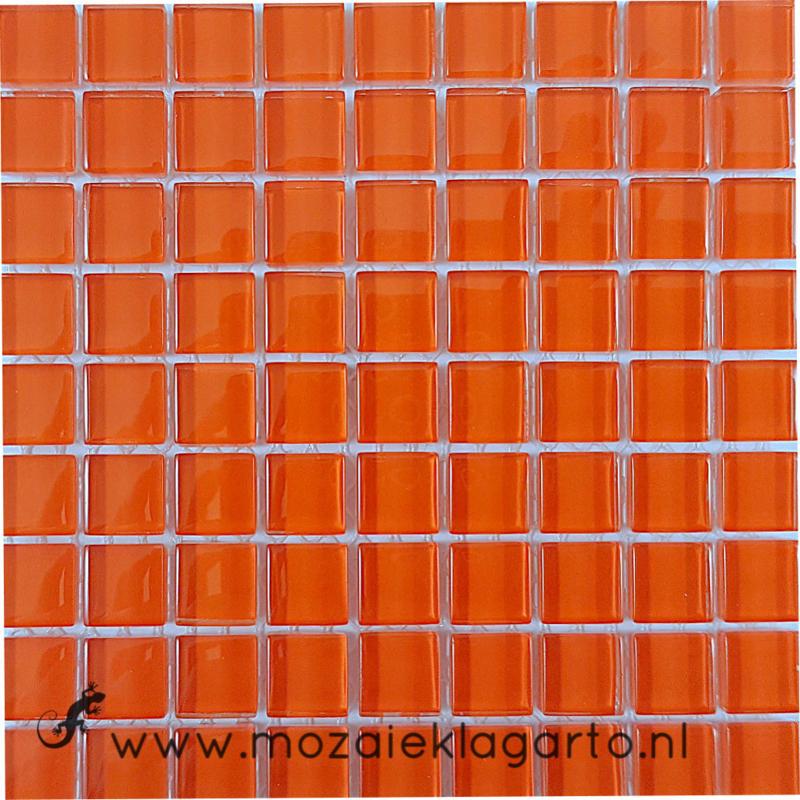 Glastegeltje Murrini Donker Oranje per 81 tegeltjes 094