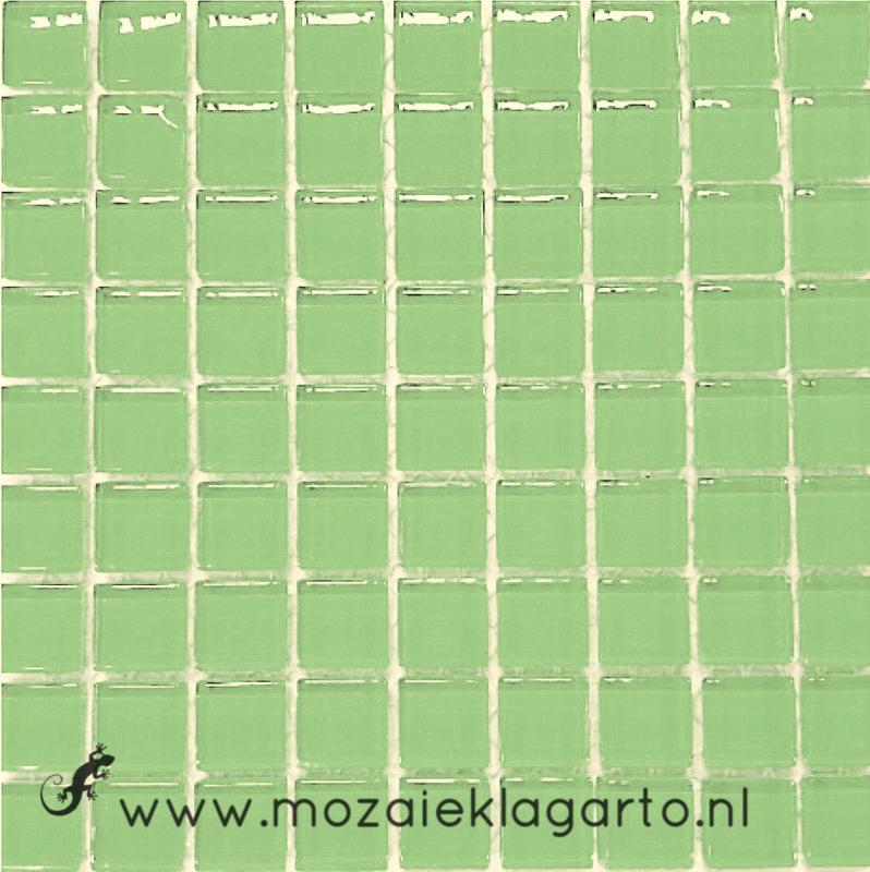 Glastegeltje Murrini Pistache Groen per 81 tegeltjes 053