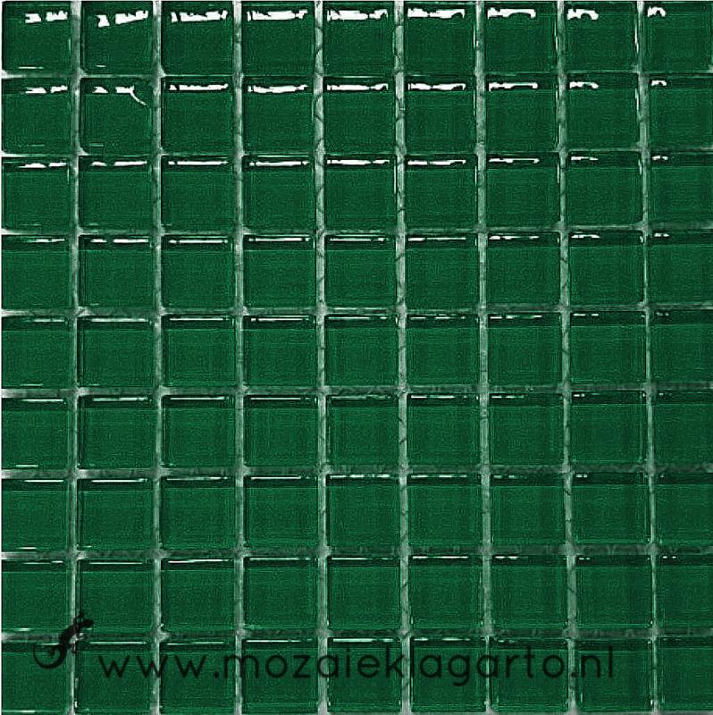 Glastegeltje Murrini Donkergroen per 81 tegeltjes 079