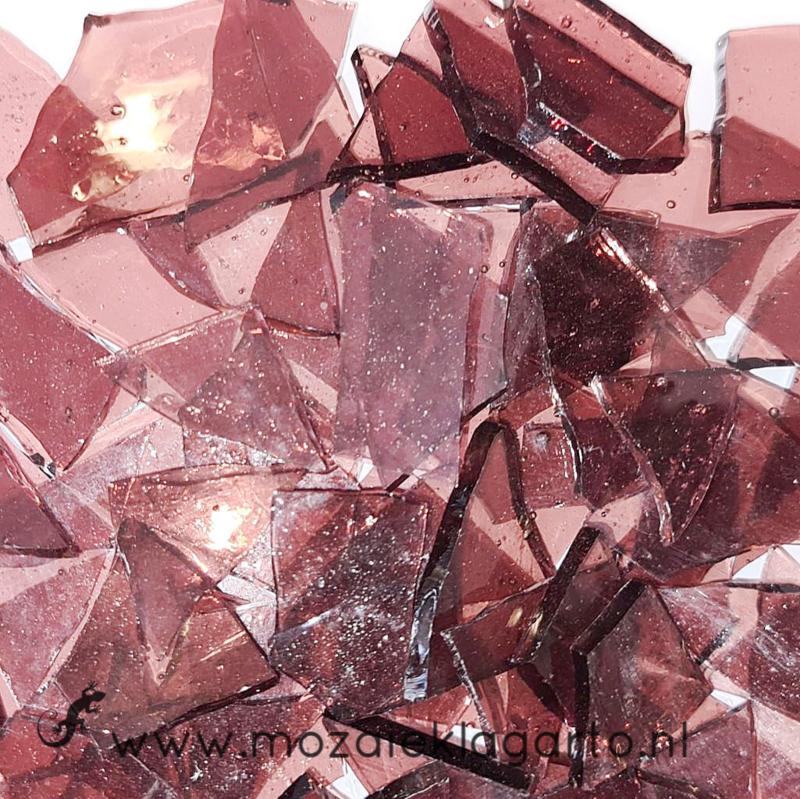 Gekleurde glasscherven Transparant  Amethist CAG009t