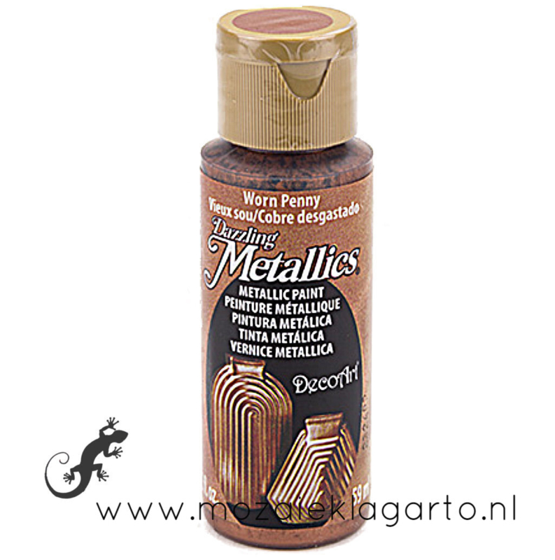 Acrylverf Metallic 59 ml Worn Penny 26916