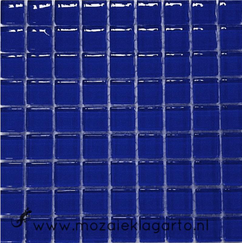 Glastegeltje Murrini Blauw  per 81 tegeltjes 083