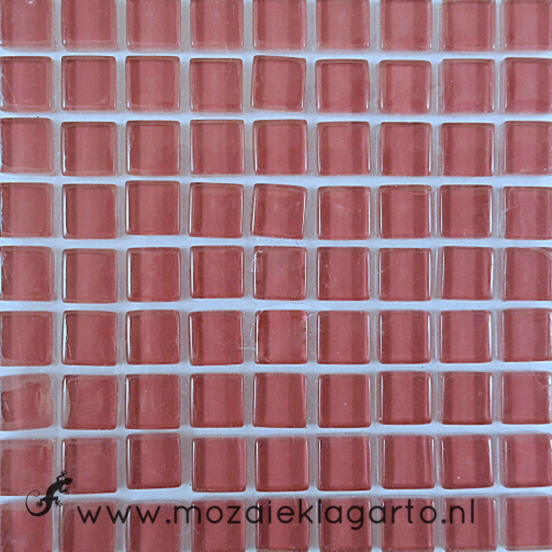 Glastegeltje Murrini  Roze per 81 tegeltjes 027