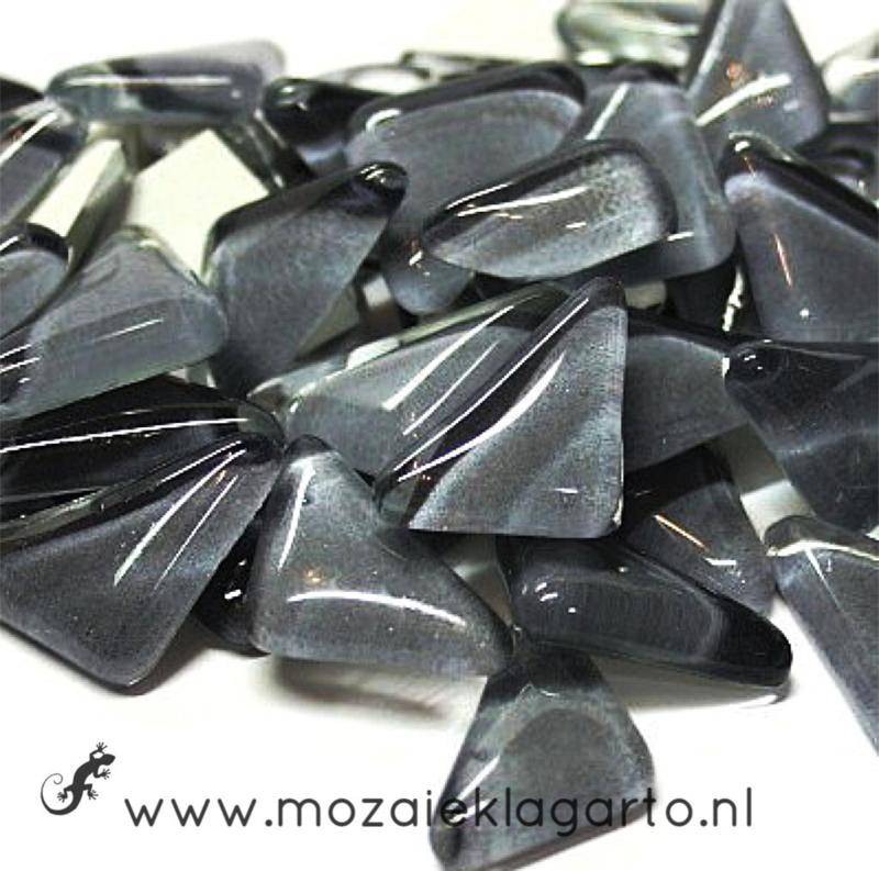 Mozaiek puzzelstukjes Soft Glas 100 gram Donkergrijs 067
