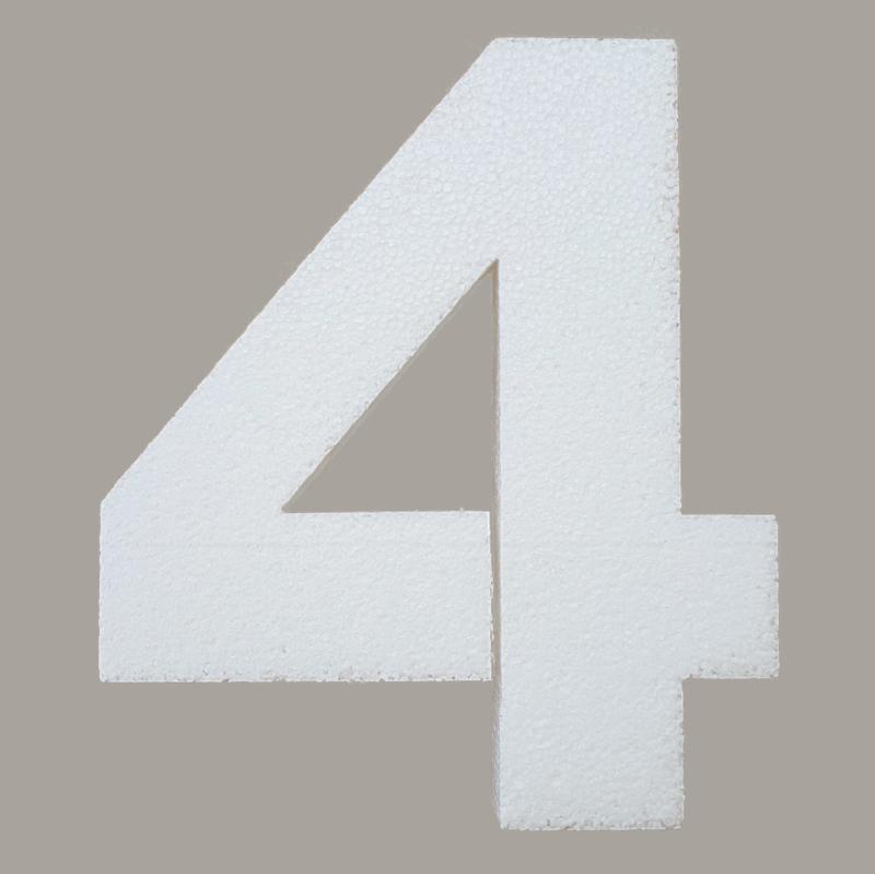 Ondergrond mozaïek Styropor Cijfer 4