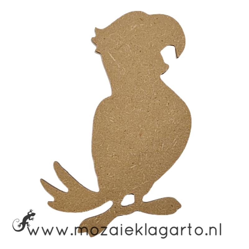 Ondergrond voor mozaiek MDF Papegaai 035