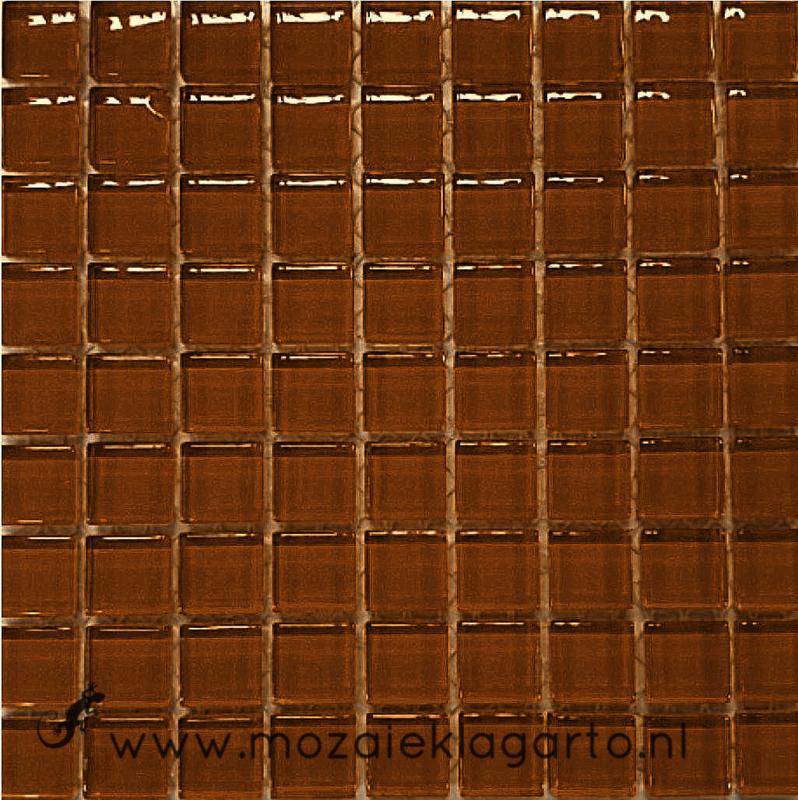 Glastegeltje Murrini Bruin per 81  tegeltjes 043