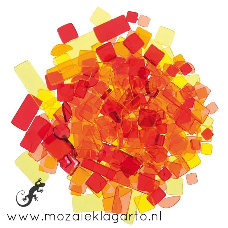 Acryl Mix Mozaiek Rood/Oranje/Geel  50 gram 5950