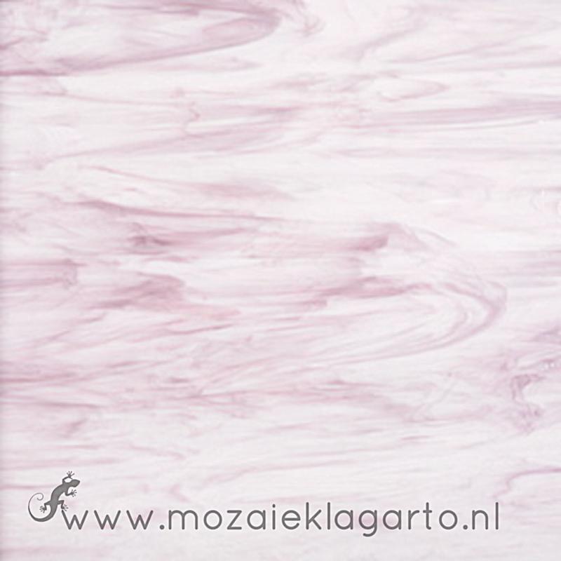 Glasplaat 20 x 20 cm Semi Translucent  Donkerroze/Wit Y087st