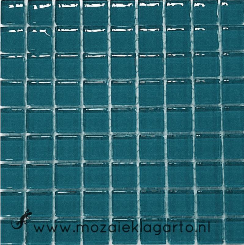 Glastegeltje Murrini Donker Zeegroen per 81 tegeltjes 064